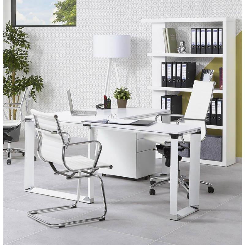 Bureau d'angle design CORPORATE en bois (blanc) - image 26085