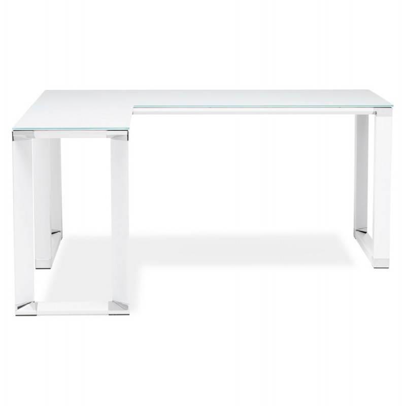 Bureau d'angle design MASTER en verre trempé (blanc) - image 26099