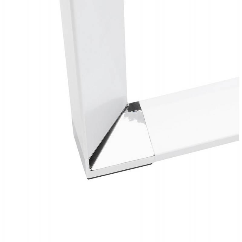 Bureau d'angle design MASTER en verre trempé (blanc) - image 26118