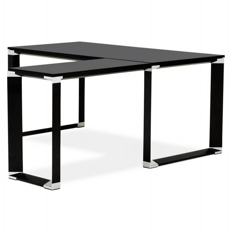 Bureau d'angle design CORPORATE en bois (noir) - image 26237