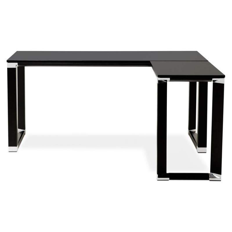 Bureau d'angle design CORPORATE en bois (noir) - image 26238