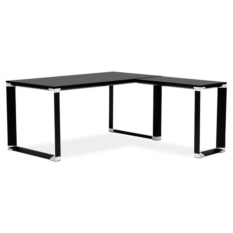 Bureau d'angle design CORPORATE en bois (noir) - image 26240