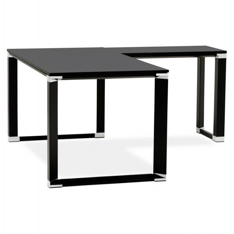 Bureau d'angle design CORPORATE en bois (noir) - image 26242