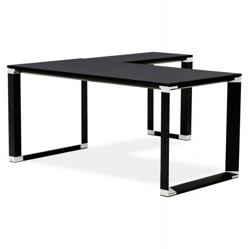 Bureau D 39 Angle Design Corporate En Bois Noir