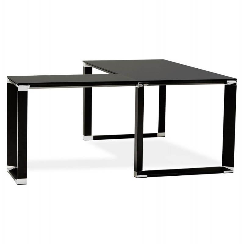 bureau d angle design master en verre tremp 233 noir