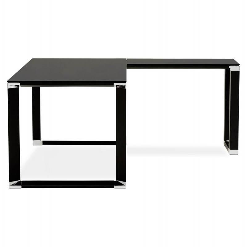 Bureau d'angle design MASTER en verre trempé (noir) - image 26258