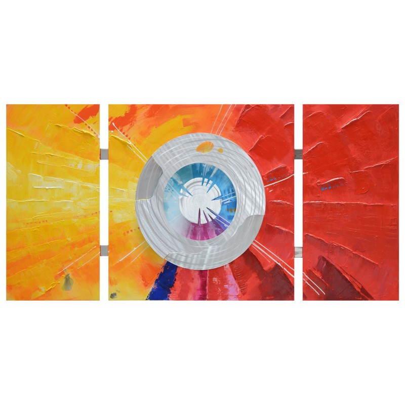 Tableau peinture contemporaine de style abstrait ROUE  - image 26466