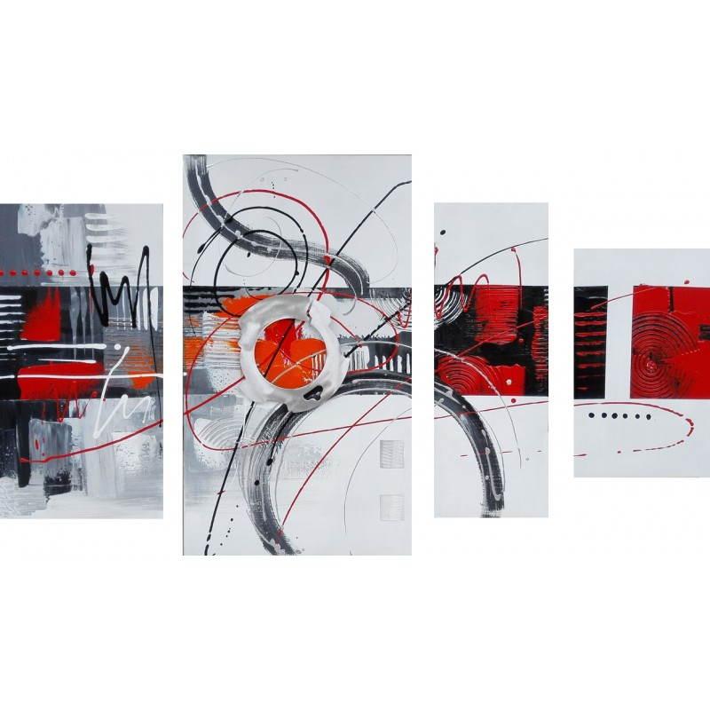 tableau peinture contemporaine de style abstrait cercle. Black Bedroom Furniture Sets. Home Design Ideas