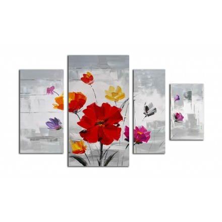 Tabelle Malerei Blumen Kosmos