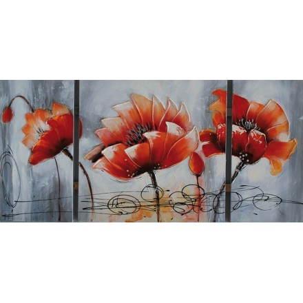 Tabella pittura floreale LOTUS