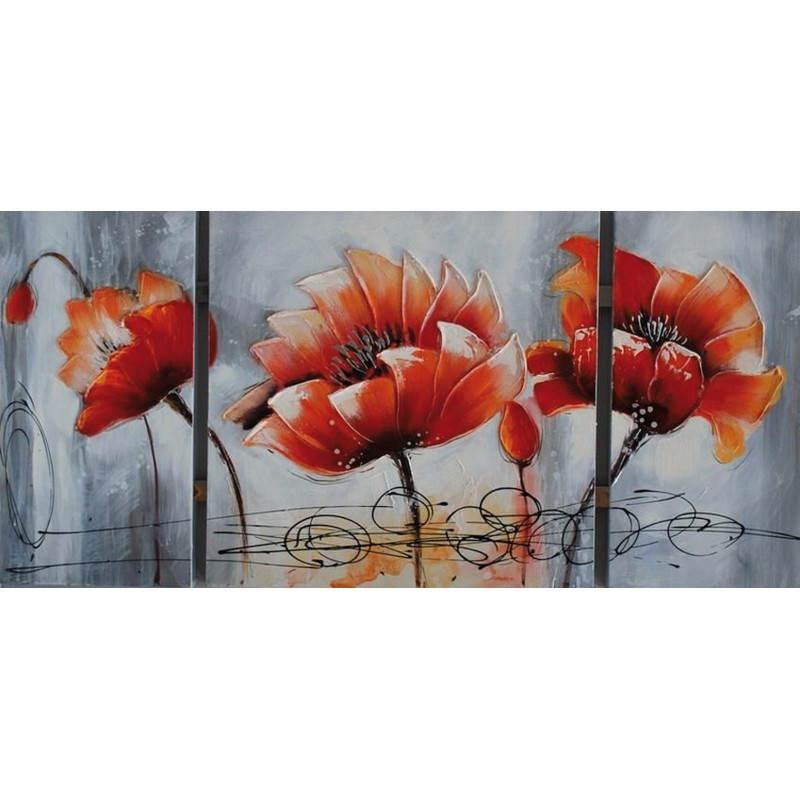 Tableau peinture florale LOTUS