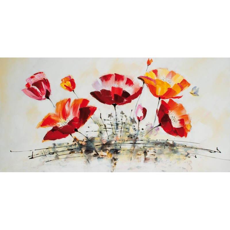 Tableau peinture florale OEUILLET  - image 26481