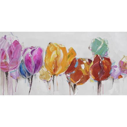 Tableau peinture florale TULIPE