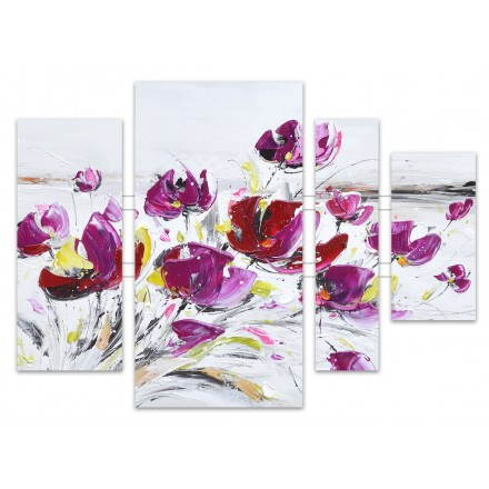 Pinturas pintura floral violeta