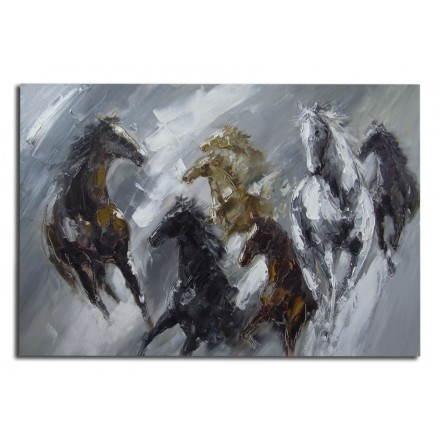 Tabella pittura figurativa contemporanei cavalli