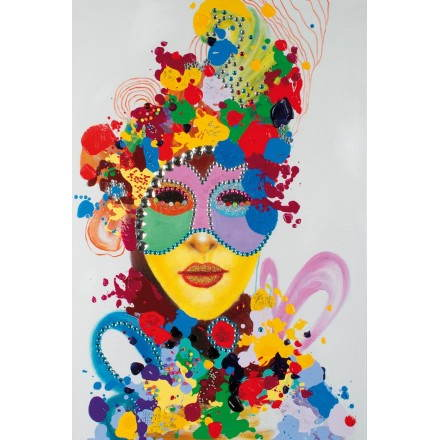 Tabella di pittura figurativa contemporanea Carnevale
