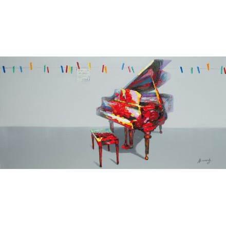 Cuadro pintura figurativa contemporánea PIANO