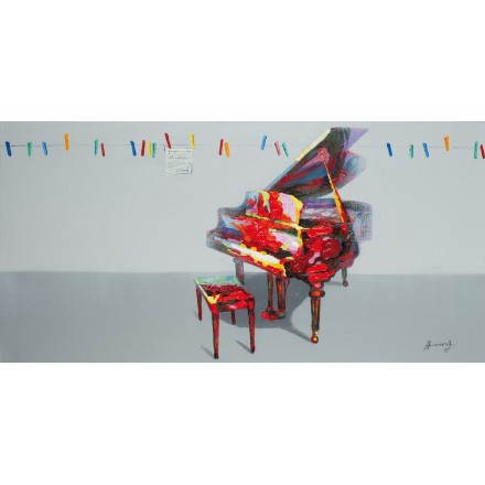 Table painting figurative contemporary PIANO
