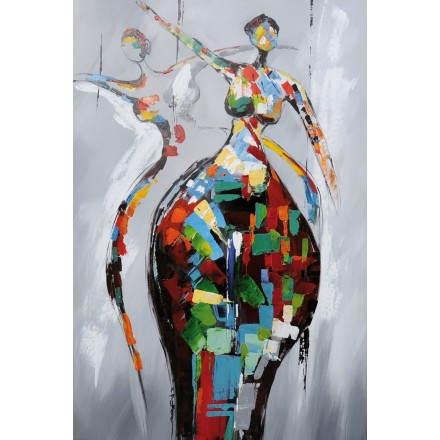 Tableau peinture figurative contemporaine RUMBA