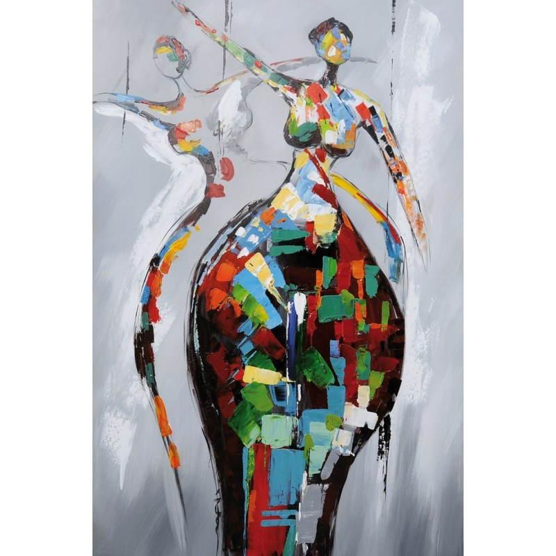 Tabella di pittura figurativa contemporanea rumba for Dipinti figurativi moderni