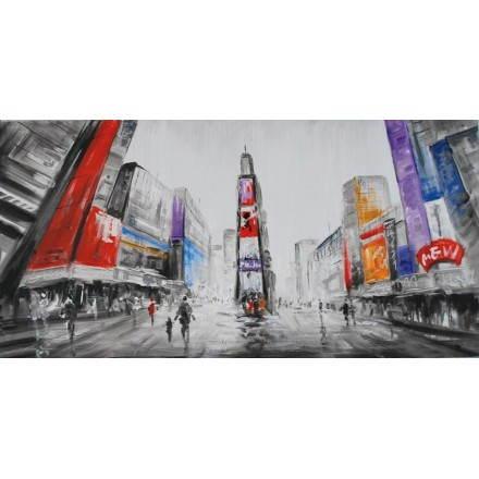 Cuadro pintura figurativa ciudad contemporánea