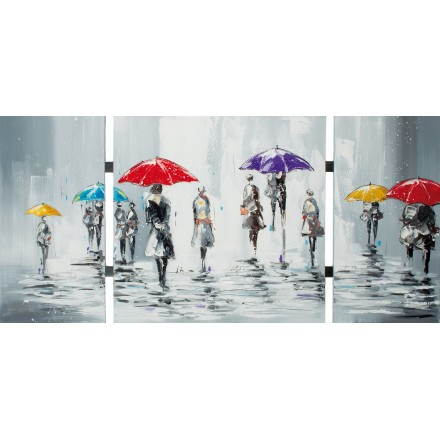 Table painting figurative contemporary umbrella