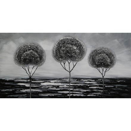 Table painting figurative contemporary trees
