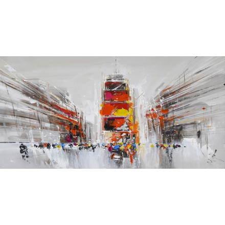 Tableau peinture figurative contemporaine PERSPECTIVE