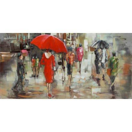 Pintura tabla soporte metal lluvia