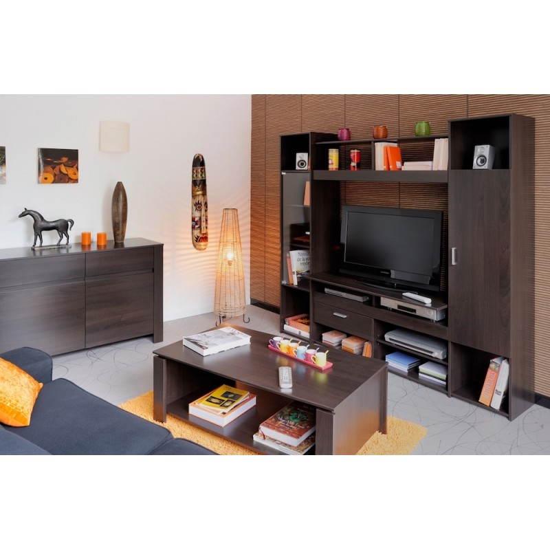 Meuble TV Hifi vidéo design EUROPE (wengé) -> Meuble Tv Video Design