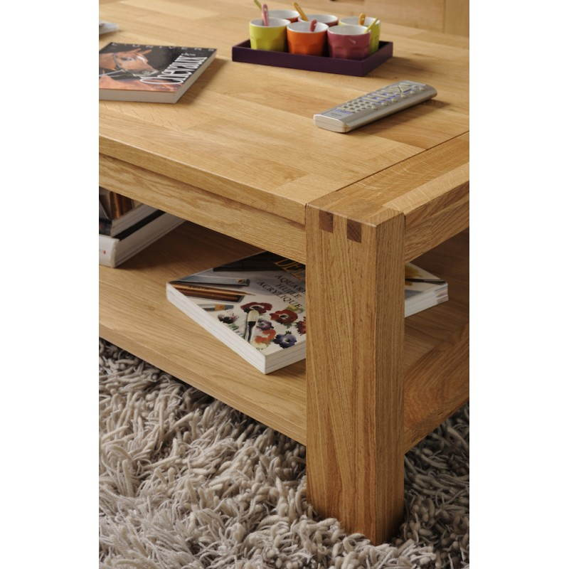 Rectangular coffee table design halls beige finish oiled - Table basse laquee beige ...