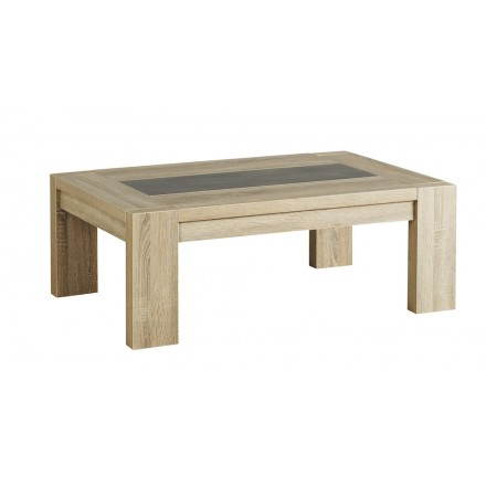 Rectangular Coffee Table Design Auteuil Raw Oak Concrete