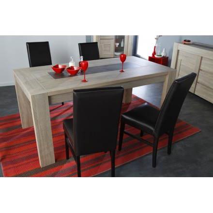Sala da pranzo design espandibile AUTEUIL (rovere grezzo, cemento) - AMP  Story 3901