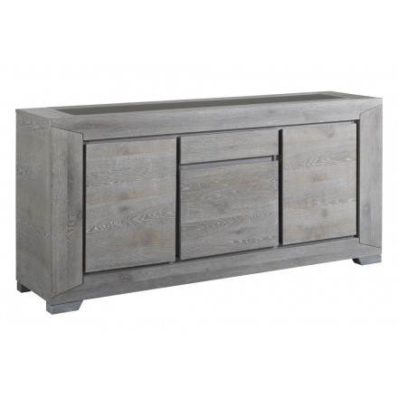 Buffet round 3 BERCY (grey) oak decor design doors