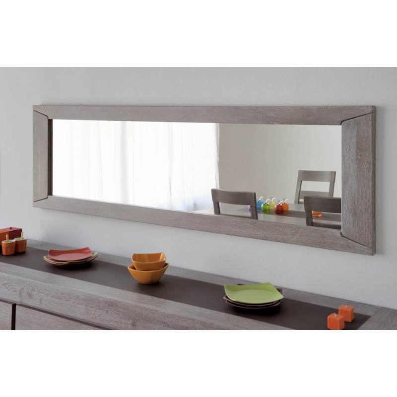 miroir mural rectangulaire design bercy d cor ch ne gris. Black Bedroom Furniture Sets. Home Design Ideas