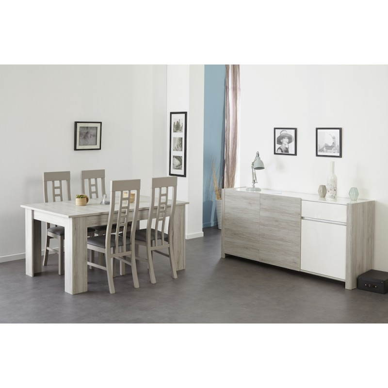 Tavolo da pranzo allungabile design chaillot arredamento for Table extensible gris clair