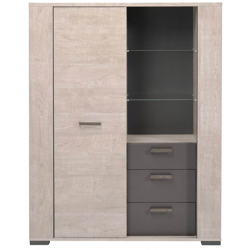 buffet bahut haut contemporain odeon gris loft gris ombre. Black Bedroom Furniture Sets. Home Design Ideas