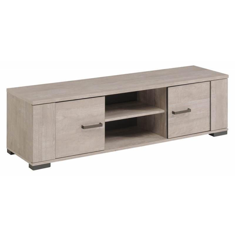 Meuble bas tv contemporain odeon gris loft gris ombre - Meuble bas contemporain ...