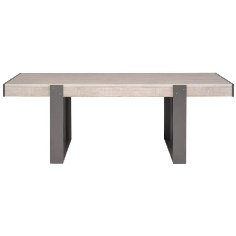 Table a manger industrielle contemporaine odeon gris loft for Table salle a manger loft