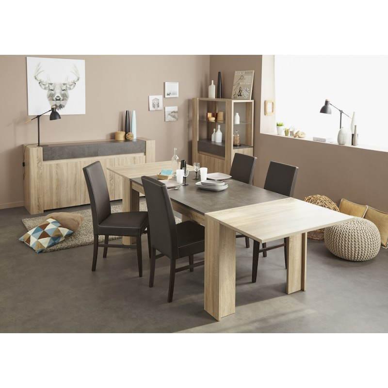 Table manger avec 2 allonges design firmin d cor ch ne for Achat salle a manger