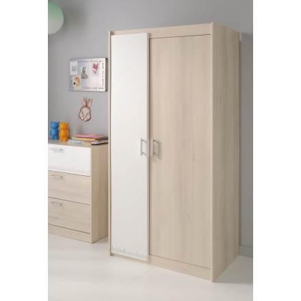Porte del guardaroba progettazione junior ragazza ragazzo 2 (bianco, beige cenere) ALEX