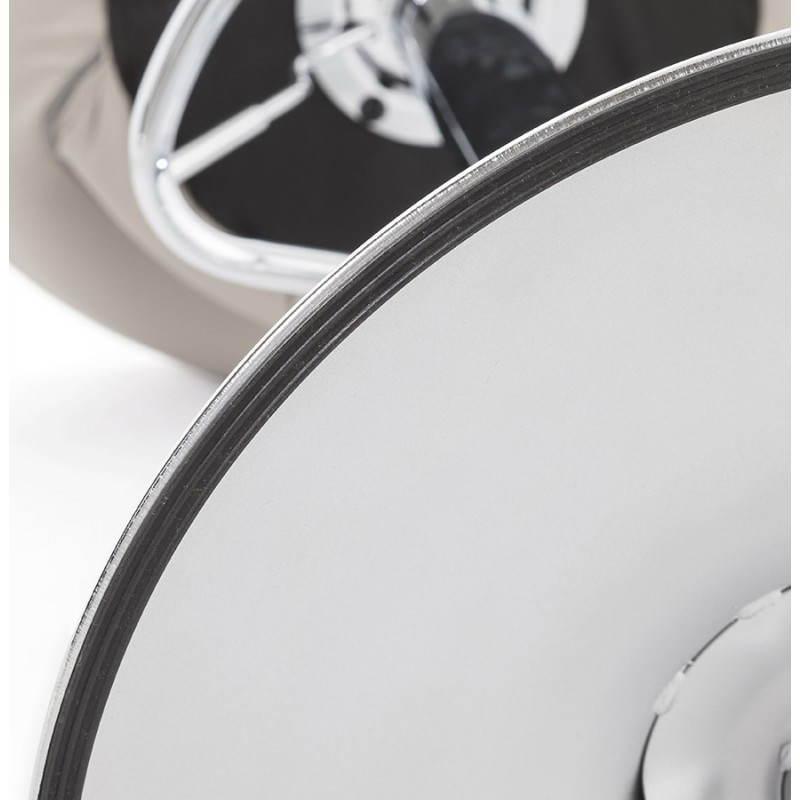 Tabouret de bar rond contemporain rotatif et réglable IRIS (gris clair) - image 27503