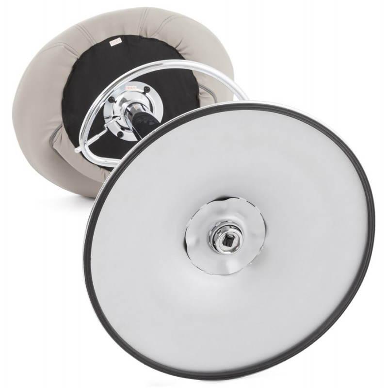 Tabouret de bar rond contemporain rotatif et réglable IRIS (gris clair) - image 27504
