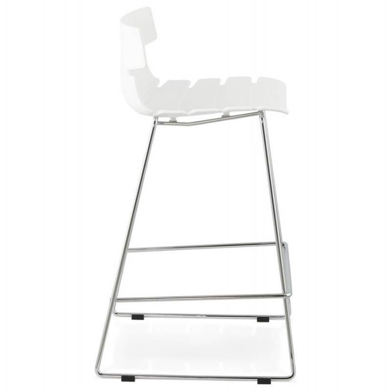 Tabouret de bar mi-hauteur design BRIO en polypropylène (blanc) - image 27582