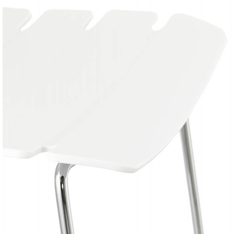 Tabouret de bar mi-hauteur design BRIO en polypropylène (blanc) - image 27586
