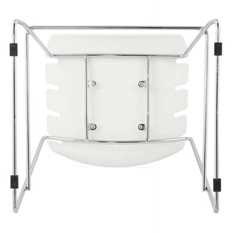 Tabouret de bar mi-hauteur design BRIO en polypropylène (blanc) - image 27592