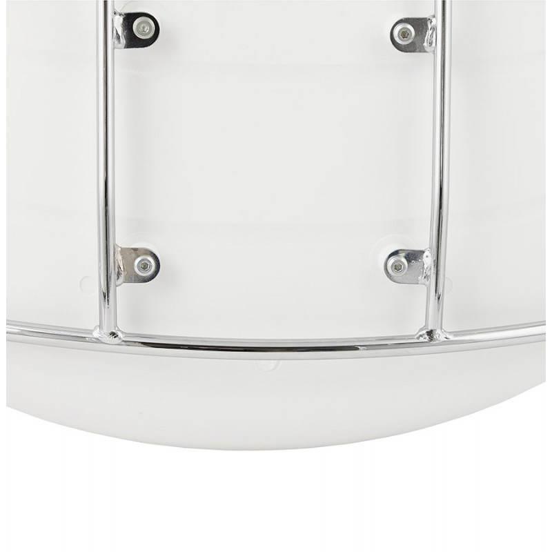 Tabouret de bar mi-hauteur design BRIO en polypropylène (blanc) - image 27593