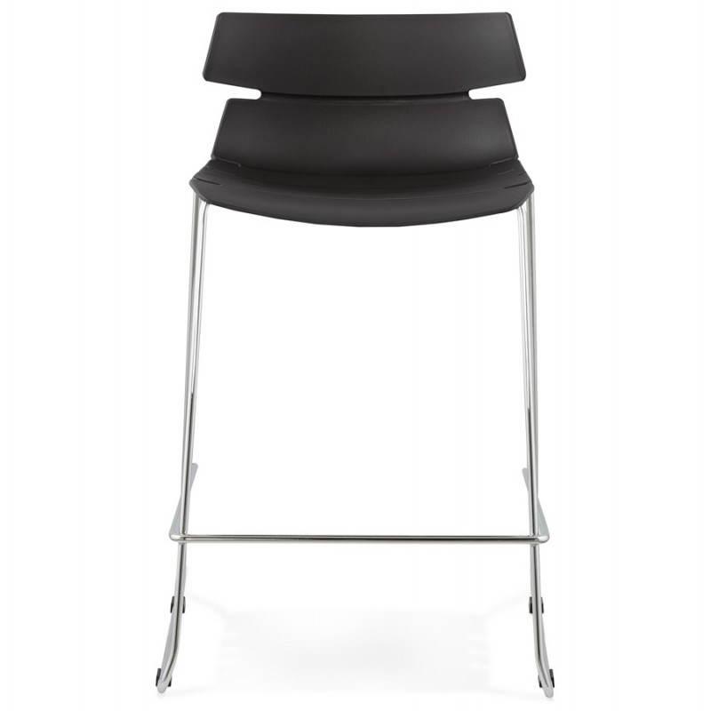 Tabouret de bar mi-hauteur design BRIO en polypropylène (noir) - image 27595