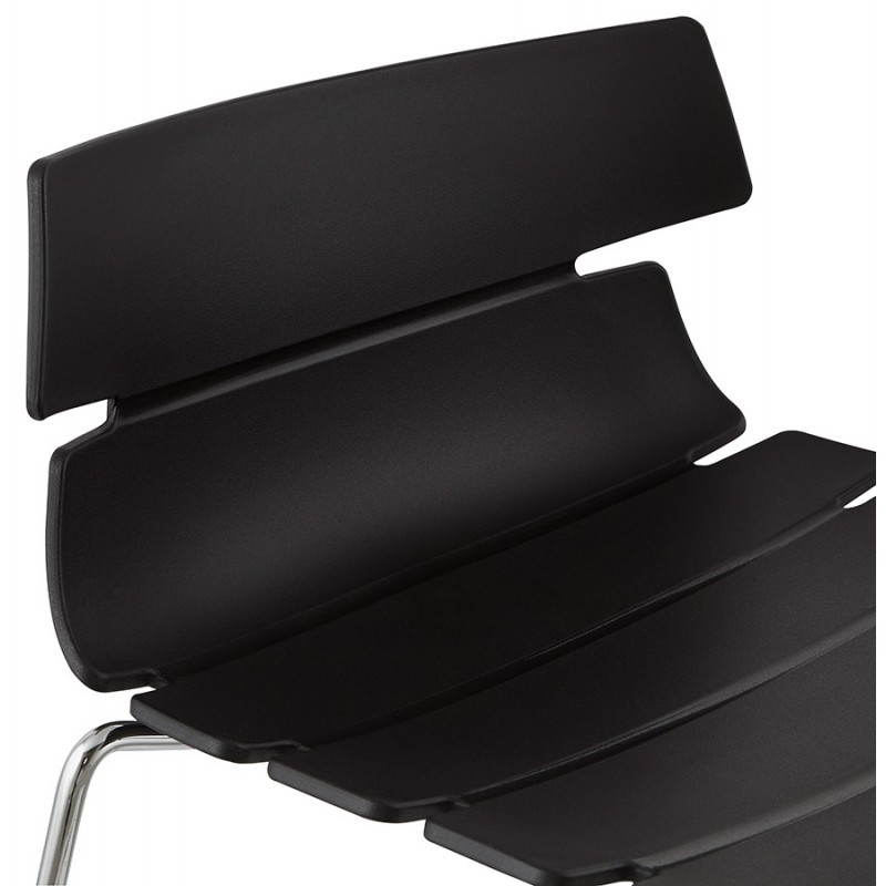 Tabouret de bar mi-hauteur design BRIO en polypropylène (noir) - image 27600