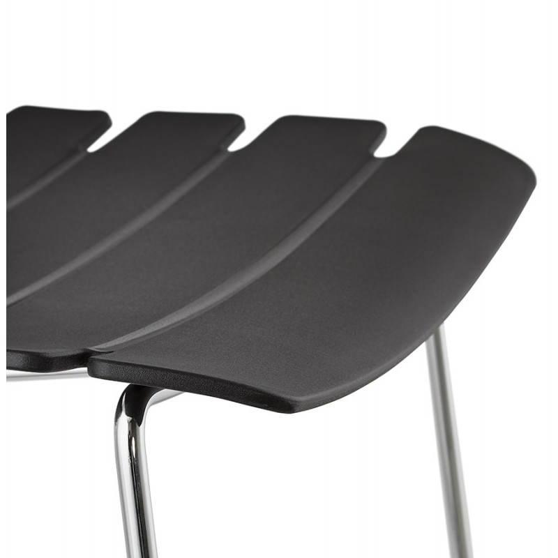 Tabouret de bar mi-hauteur design BRIO en polypropylène (noir) - image 27601